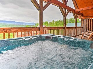 New! 1BR Pigeon Forge Cabin w/Hot Tub & Views!