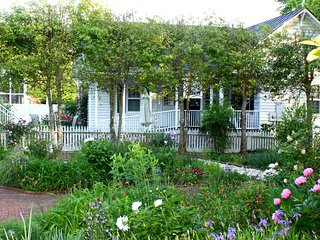 Roomy Clean and Cozy Cottage, overlooks Historic gardens, In Town, WALK to all!