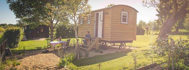 Un lujo pastores Hut en el corazón de Cambridgeshire.