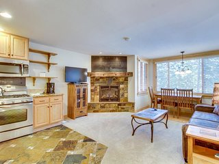 Ski-in/ski-out condo with shared sauna, hot tub, pool, and rec center!