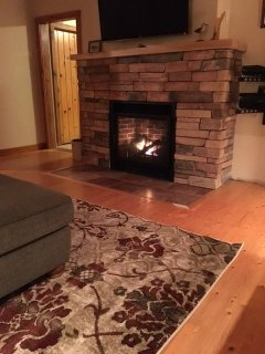 "Spruce Cottage - stone fireplace with propane insert - 48"" flat screen TV"