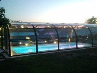 Superbe gite 5 pers. label gite de France 3epis piscine couverte chauffee