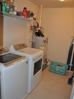 Laundry Room with full washer/dryer
