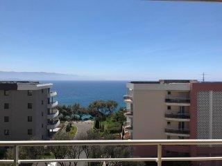 Appartement T3 Ajaccio vue mer proche plage jusqu'a 6 personnes