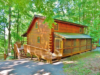 Log Cabin, Mountain View, EZ Access, Playground, Fireplace, Firepit, WIFI, A/C