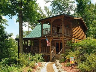Serenity Creek is a private and secluded cabin on 4.5 acres