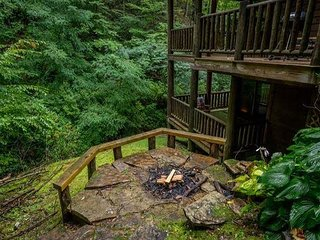 Beautifully decorated cabin is perfectly secluded on 5.2 acres