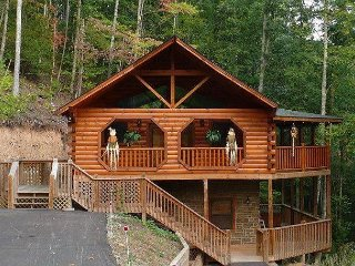 A gorgeous log cabin awaits you at Hidden Heart.