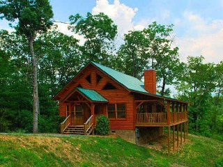 Nestled high above Wears Valley in a wooded setting, very secluded.