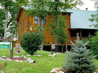 Awe inspiring cabin, private woodland setting, spectacular mountain views.