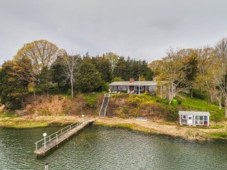 Lakefront home w/ two docks & beautiful views - an excellent Cape location!
