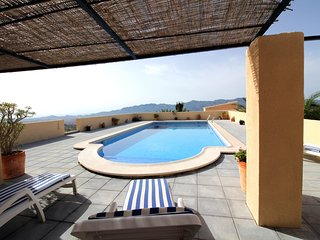 A two bedroom cottage with private 10x5 pool and spectacular views