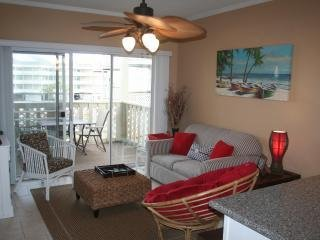 Walk to Gulf, Bay or pool - Water Views from this two bedroom/two bathroom condo