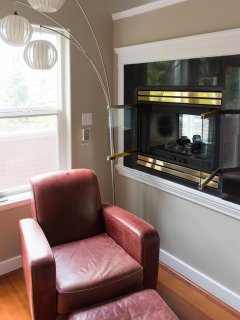Master bedroom fire place