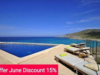 Last Minute 15% June 2017. House for 12 people in Cala Mesquida with sea views