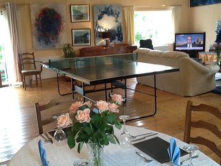 Table tennis  or watch TV