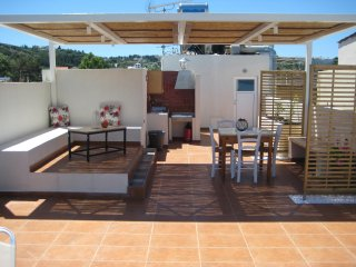 Floor apartment with roof terrace only 20 metres far from Almyrida sandy beach