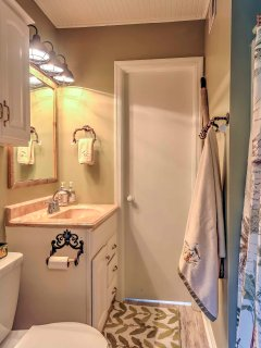 The en suite bathroom provides maximum convenience and privacy.