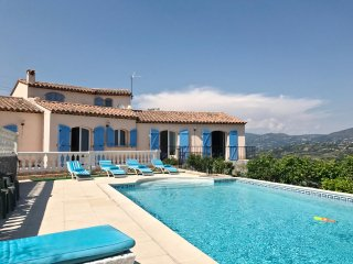 Villa AZUR, 4BR, private pool, A/C, sea view