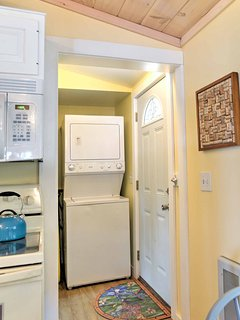 You don't need to worry about packing a ton with your own washer and dryer!
