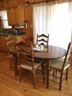 Pine dining area
