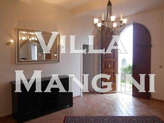 Villa Mangini, con parco vista mare