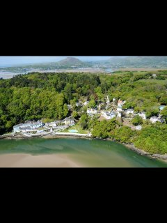 Portmeirion is just other side of the estuary