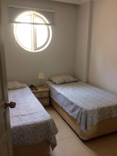 Twin bedded room. Air con.