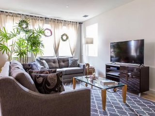 Enjoy our brand new, clean, modern, and relaxing living room.