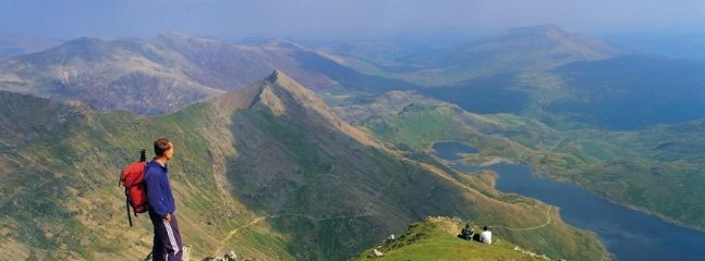 The views from the top of Snowdon are stunning