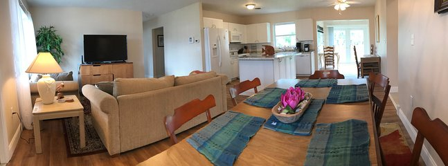 Dining area, family room, kitchen
