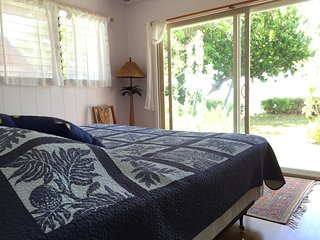 Master bedroom - oceanfront - sounds of the ocean lull you to sleep.