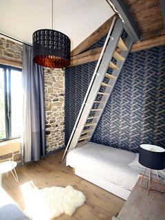 La chambre 2 et ses 3 lits 90/200 dont 1 en mezzanine