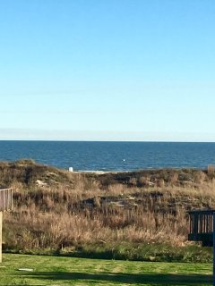 full ocean view from the over sized front deck of our lovely property