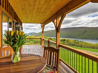 Naples Cabin w/Large Wraparound Deck & Lake Views!