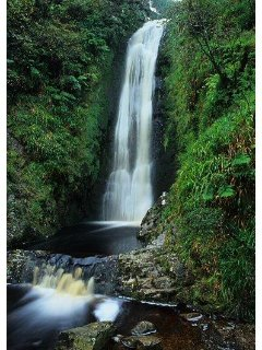 This Lovely waterfall Glenevin is just 1 mile away.