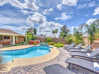 New! 'Paradise Estate' 5BR Phoenix Home w/ Pool!