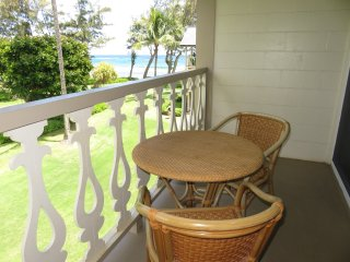 Seating on lanai.