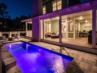 New Construction with Private Pool and Outdoor Fireplace! Includes 5 bikes!