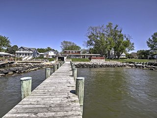 Waterfront Stevensville House w/ Pier & 2 Decks!