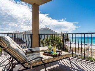 Villa Coyaba 201 ~ Luxury Gulf Front Condo! Fireplace & Gulf Views!