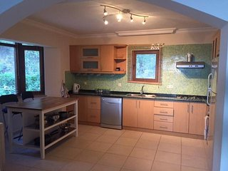 Beautiful large fully equipped kitchen with everything you may need. Includes a dishwasher.