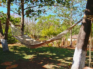 Relax and take a nap in our hammock