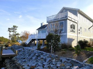 Comfortable custom built 3 level contemporary home with unparalleled views overlooking The Salt Pond.