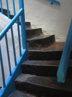 Escalier d'accès à la chambre