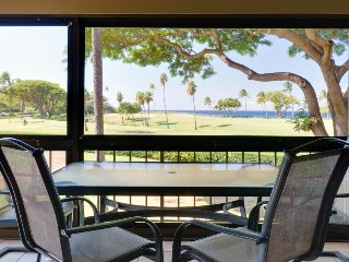 Uniquely-appointed condo with ocean views, lanai, & resort pool, close to beach