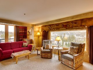 Ski-in/ski-out condo w/ mountain views, pool, hot tub, & other resort amenities