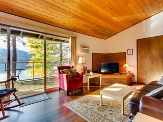 Dog-friendly, lakefront condo w/ views, shared pool & hot tub - beach access!
