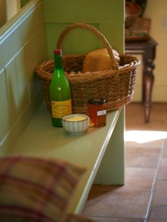 Welcome basket - all homemade or locally produced