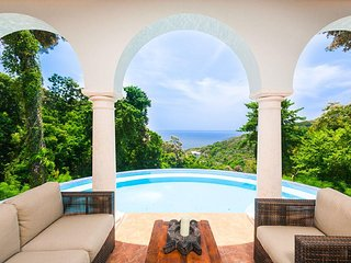 Spectacular Hilltop Home w/ Private Beach, Mountain & Sea Views.